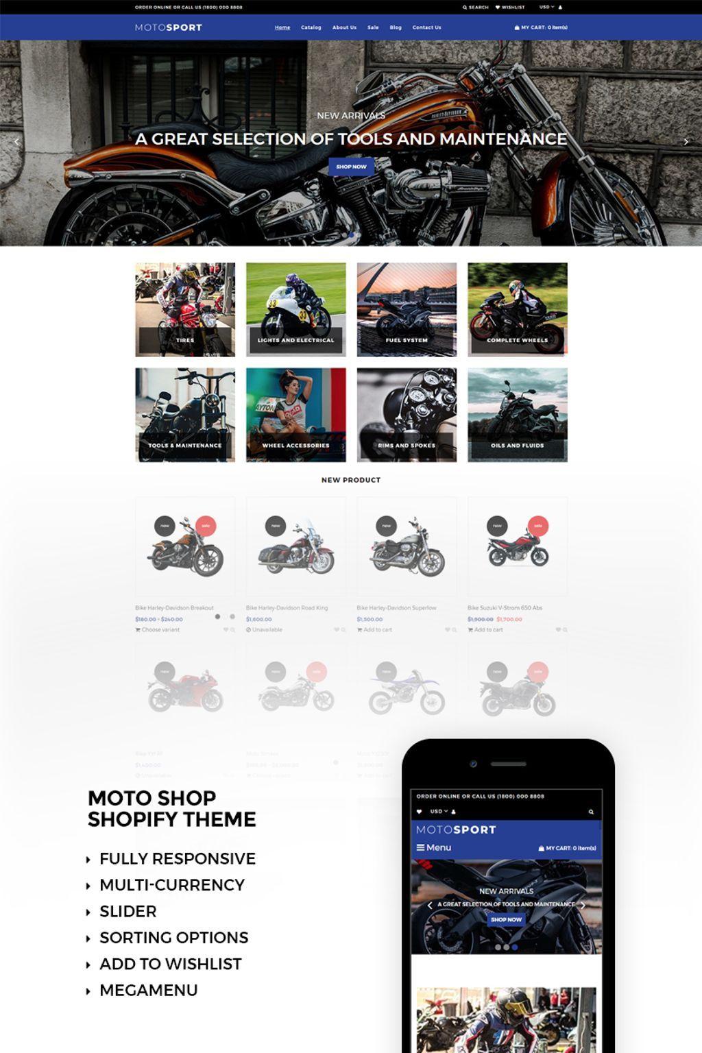 motosport responsive shopify theme shopify themes pinterest