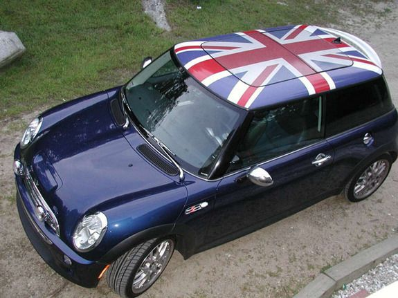 Mini Cooper With A Union Jack Roof If This Was My Car The Top Would Be Scottish Flag