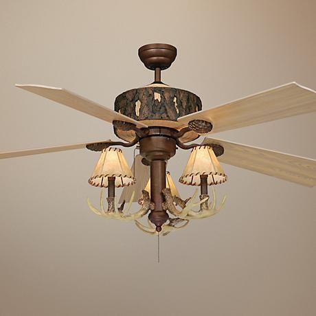 52 vaxcel log cabin ceiling fan with antler 3 light kit antlers 52 vaxcel log cabin ceiling fan with antler 3 light kit aloadofball Choice Image