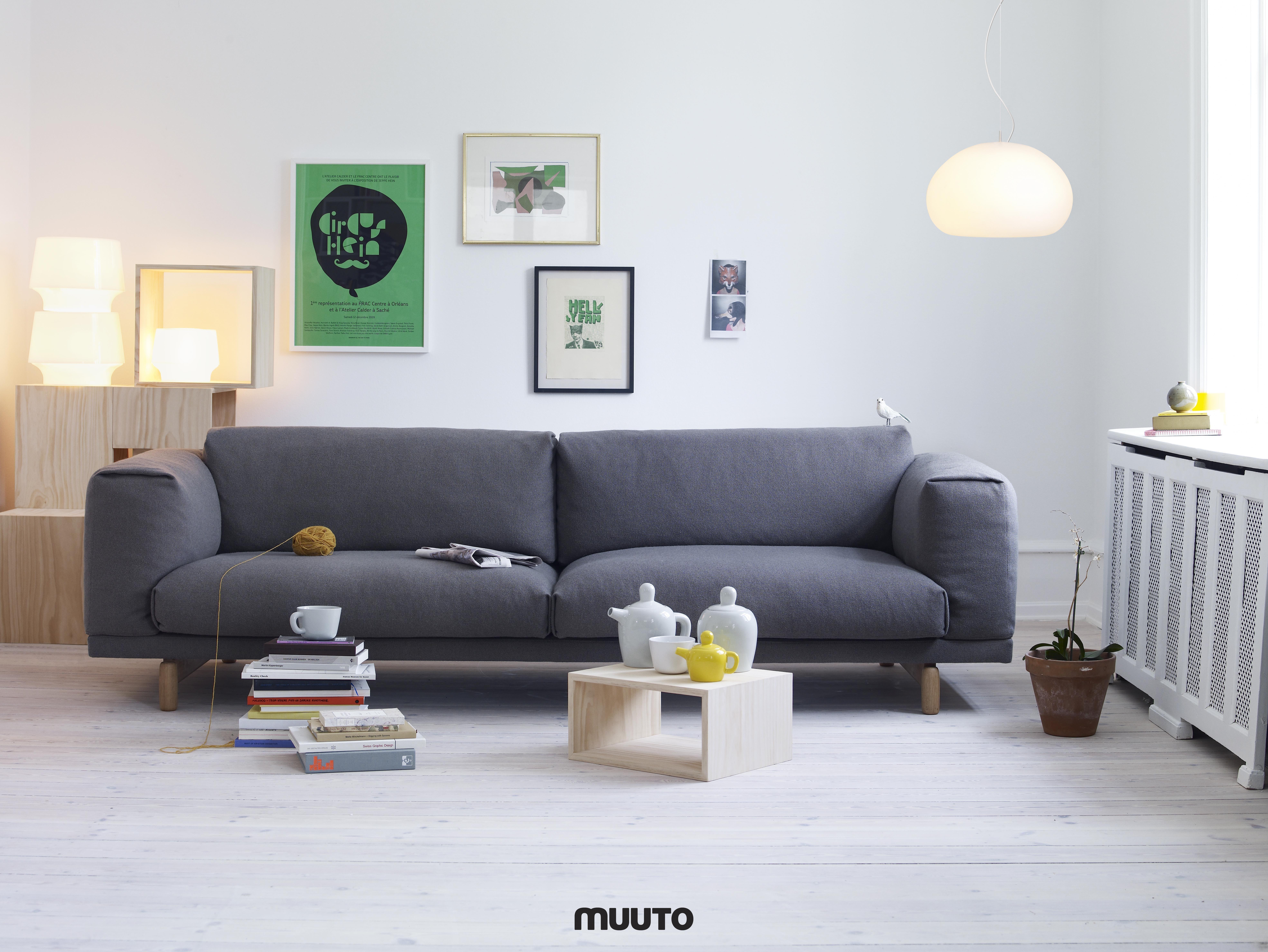 Canapé Rest Muuto Places à Partir De Furniture - Canapé 3 places pour deco chambre fille