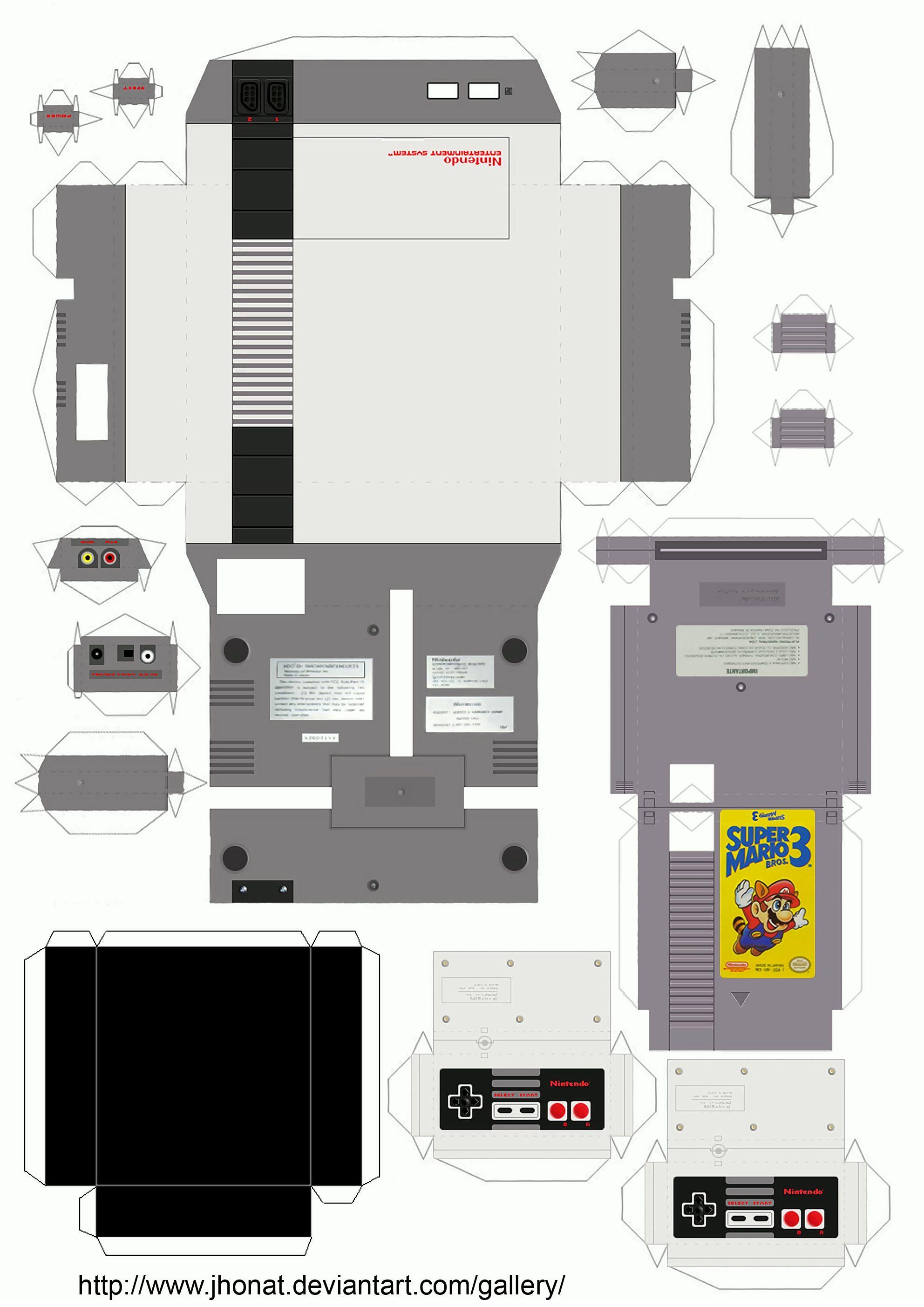 nes_papercraft_by_jhonat-d2sbr30.jpg 1,984×2,806 pixeles | Empaques ...