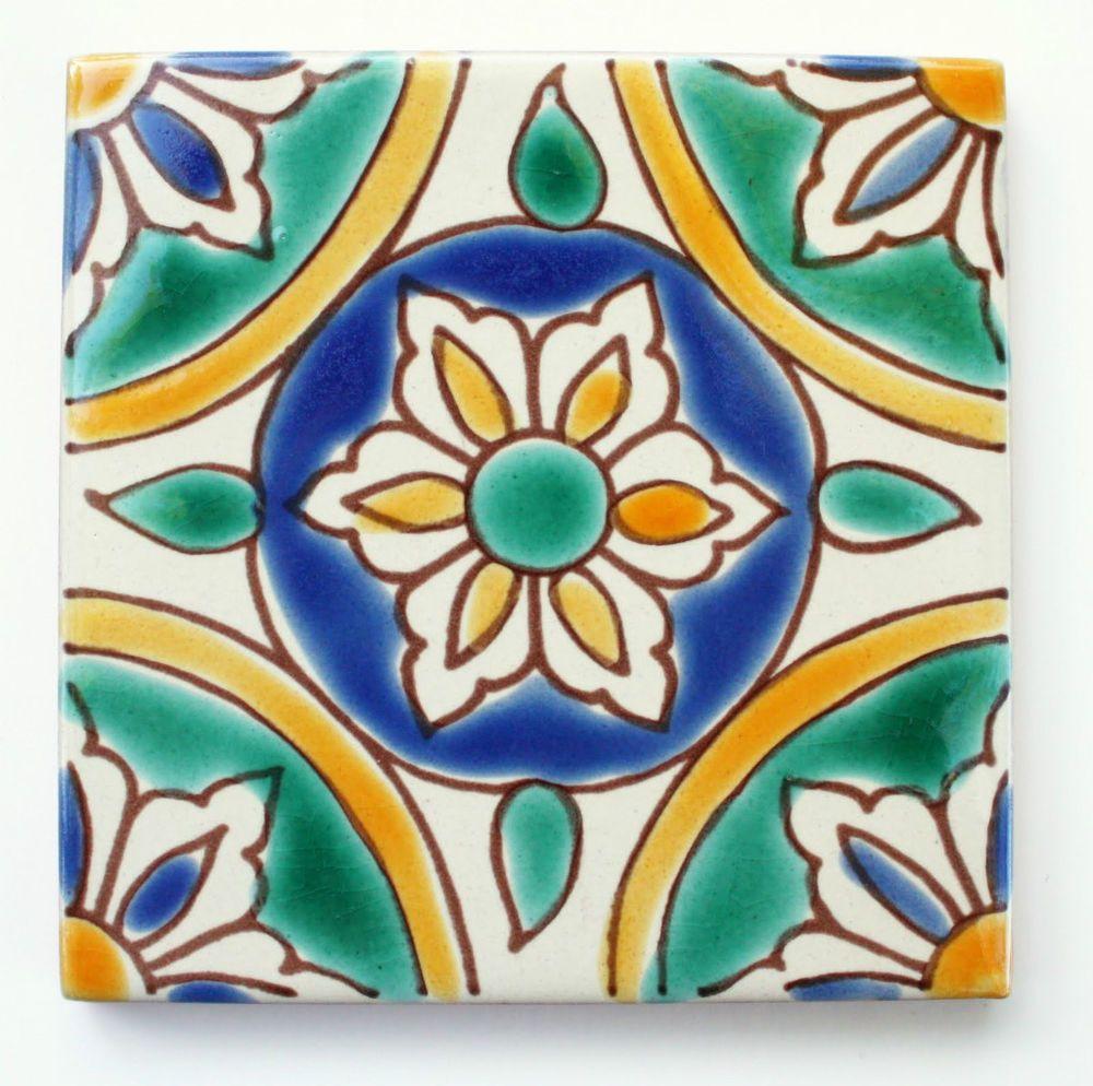 Mediterranean Spanish Ceramic Tiles Granada 4x 4