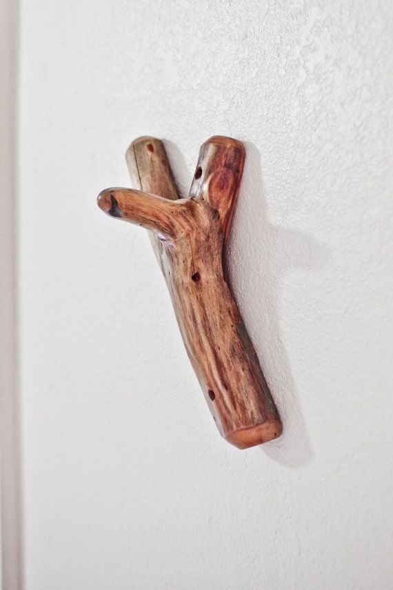 13 inch Natural Wood Hook made from a Reclaimed Branch
