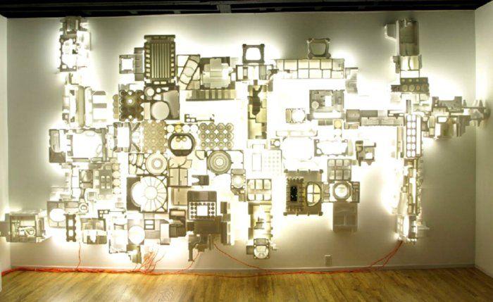 Styrofoam Packing, 'Stargazer' 2009 by Jason Rogenes.