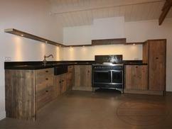 Landelijk Hoek Keuken : Stoere landelijke houten keuken deze hoekkeuken heeft een
