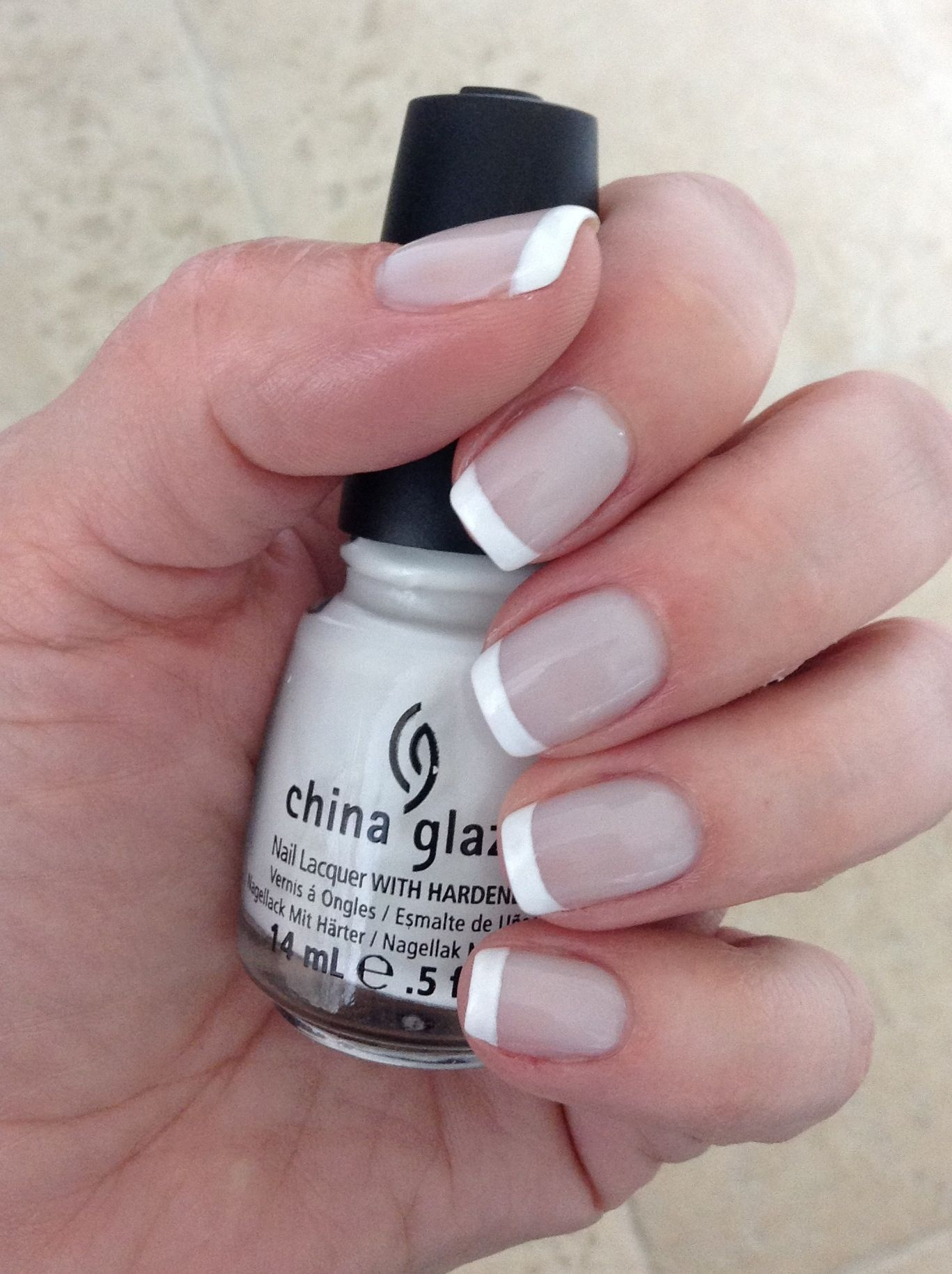 nails haute gel polish titan turned french mani with china glaze