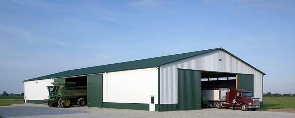 Farm Building Profile Use 18 39 Tall Pole Barn Machine Shed