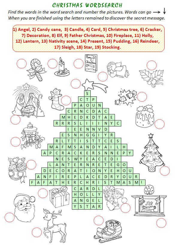 Christmas Wordsearch - SUCH a cool website for teachers with tons of ...