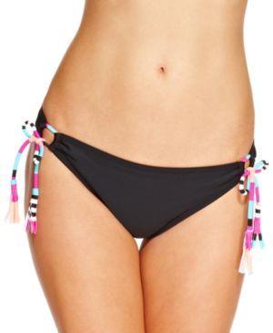 Hula Honey Fringe Side-Tie Hipster Bikini Bottom Women's Swimsuit Women Women's Clothing - Swimwear #spandex #coupons #swimwear