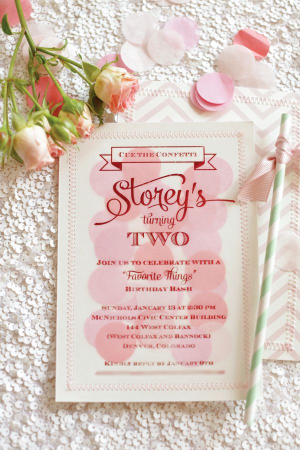 """Vellum sewn on paper backing """"Favorite Things"""" Modern Glam Birthday Party // Hostess with the ...Hostess with the Mostess®"""