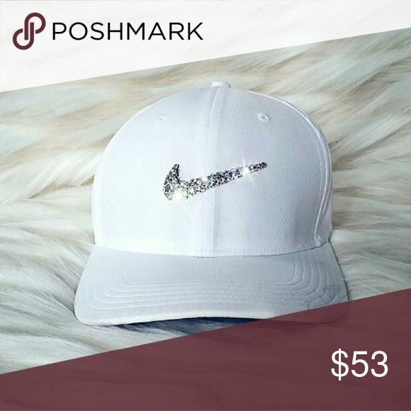 d99c444bcef18 Swarovski Bling Nike Swoosh Legacy Tech Golf Cap Colors: White ...