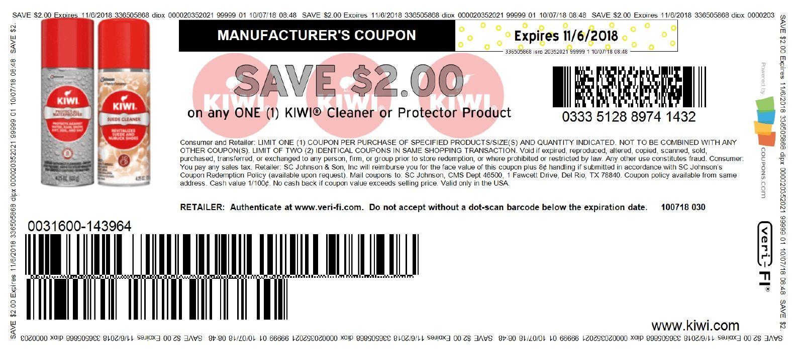9975a2f9d Casi GRATIS Kiwi Shoe products en Walmart click Aquí. Imprime antes que se  agote.