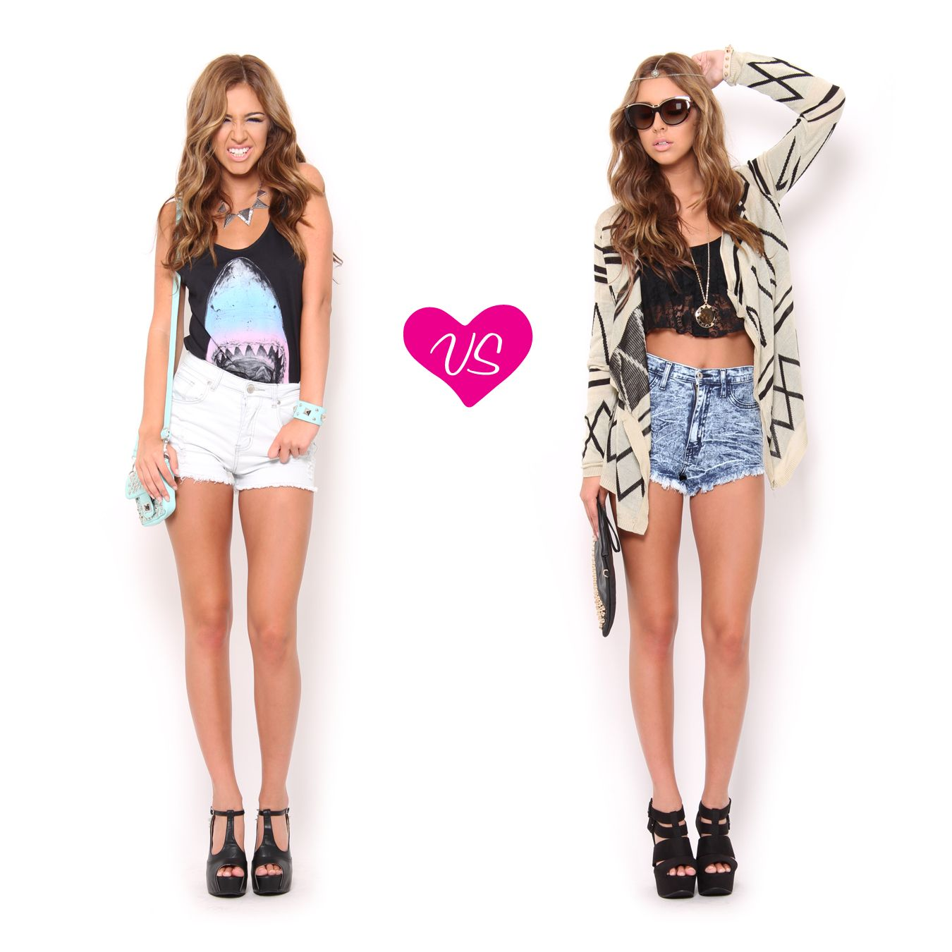 Which high waisted shorts #outfit would you wear? | Summer ...