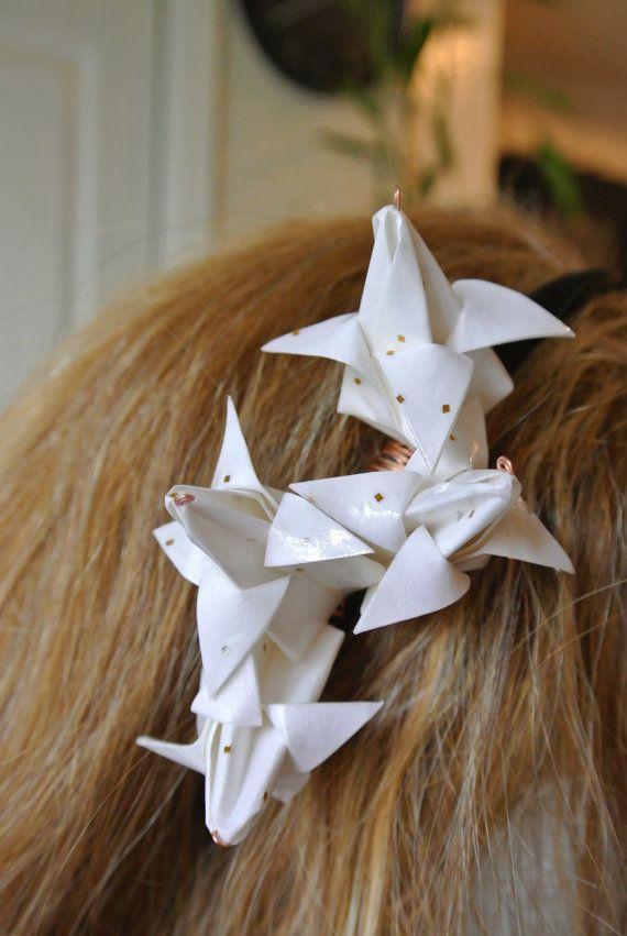 White Origami Flower Headband by hartleyandsoul on Etsy,  10.00 ... e40ec49f0be