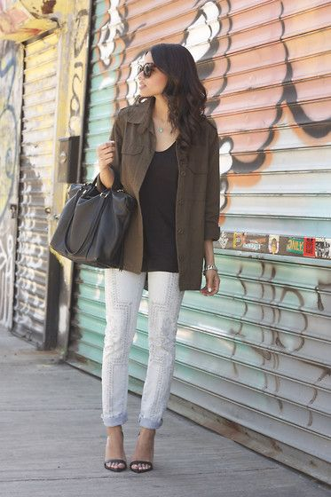 Zara Tank Bag Marylai Jacket Skinnies Lulu Heels xpT8qwfx
