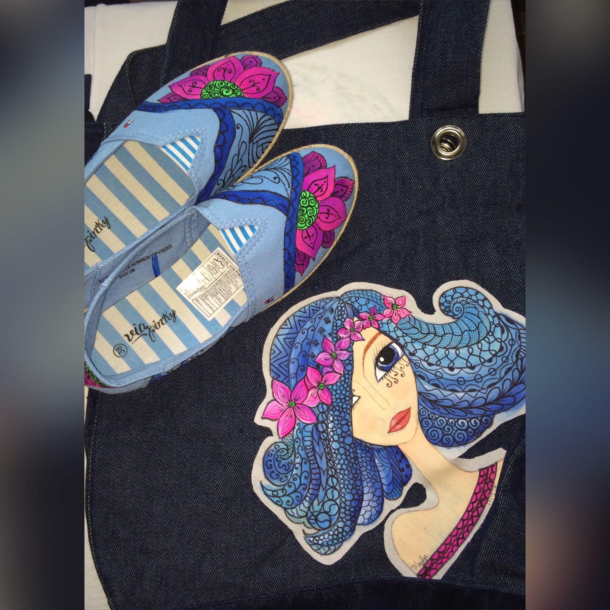 Combinación de franela y bolso