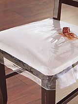 Attirant Clear Plastic Dining Chair Seat Protector | Solutions. Desperately Need  This For The Kidu0027s Chairs