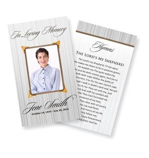 funeral prayer cards