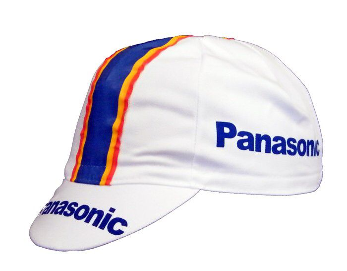PANASONIC SPORTLIFE RETRO CYCLING BIKE CAP Made in Italy Vintage  Fixed Gear