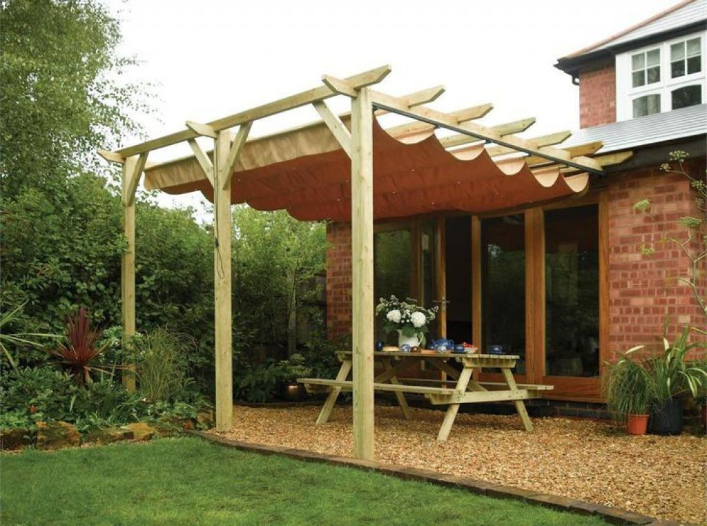 Outdoor Wooden Pergola With Retractable Roofing In 2019 Home