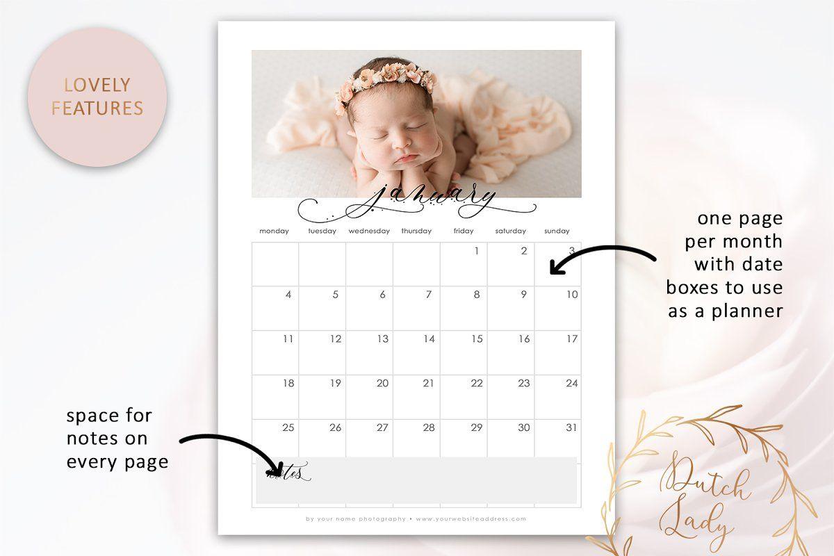 Psd Photo Calendar Template 2021 1 In 2020 Photo Calendar Calendar Template Print Calendar