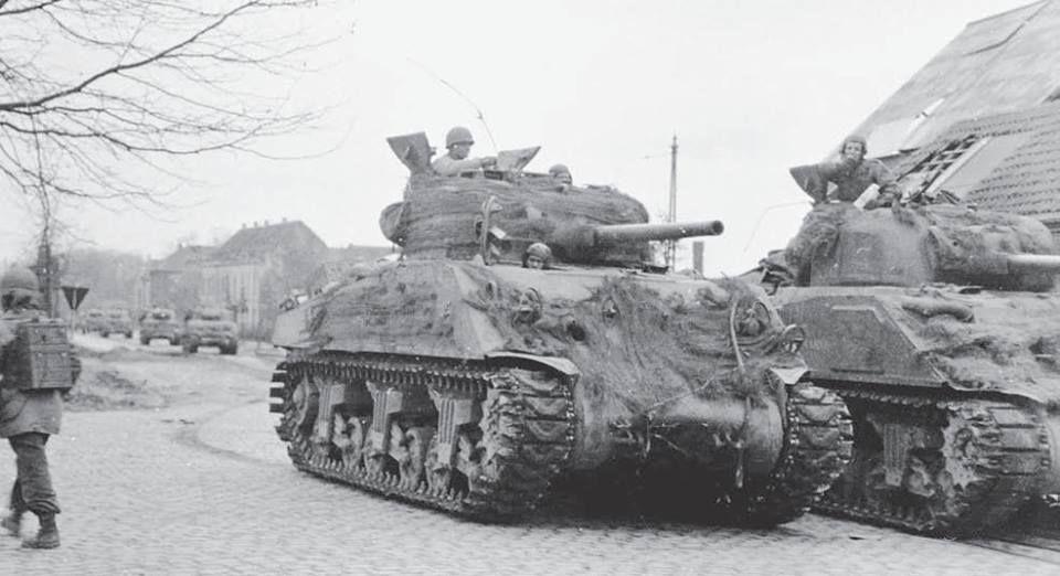 M4 75mm Sherman tanks of 2nd Armored Division, Krefeld