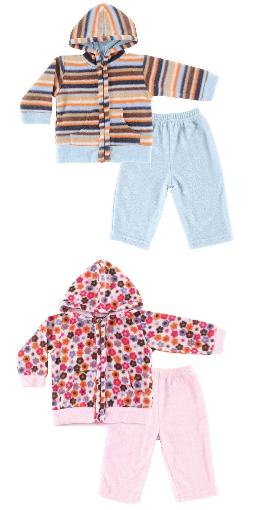 Hudson Baby Boys Girls Super Soft Fleece Long Sleeve Baby Clothing