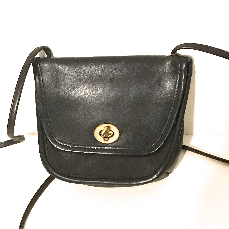 a2dc524e74b $59...Vintage Coach Bag Black Leather Coach Purse Mini Black ...