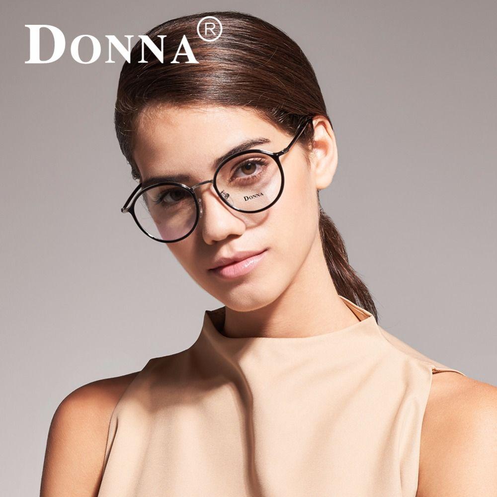 633dc1251d8 Donna Women Fashion Reading Eyeglasses Optical Glasses Frames Glasses Women  New Round Frame Clear Lens Ultra Light Frame