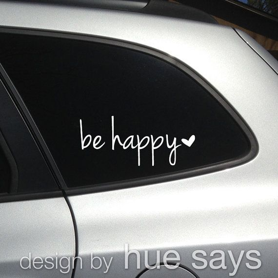 Window Stickers For Cars >> Window Sticker Car Decal Beverage Mug Decal Be Happy