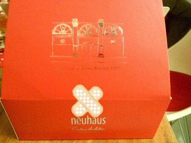 Box full with Belgian chockolate