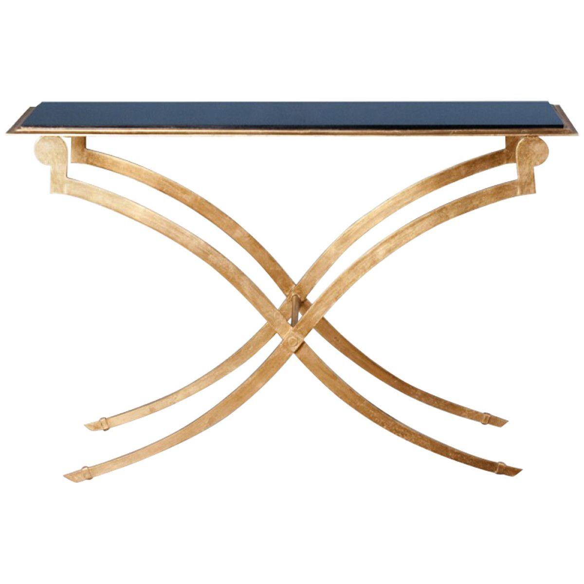 Interlude home maybeck gold leaf console shop now on pinterest