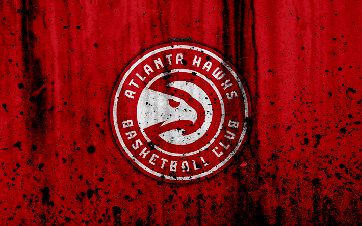 Download wallpapers Atlanta Hawks, 4k, grunge, NBA