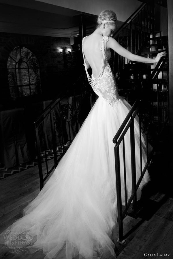 galia lahav wedding dresses  2014 patchouli mermaid gown back