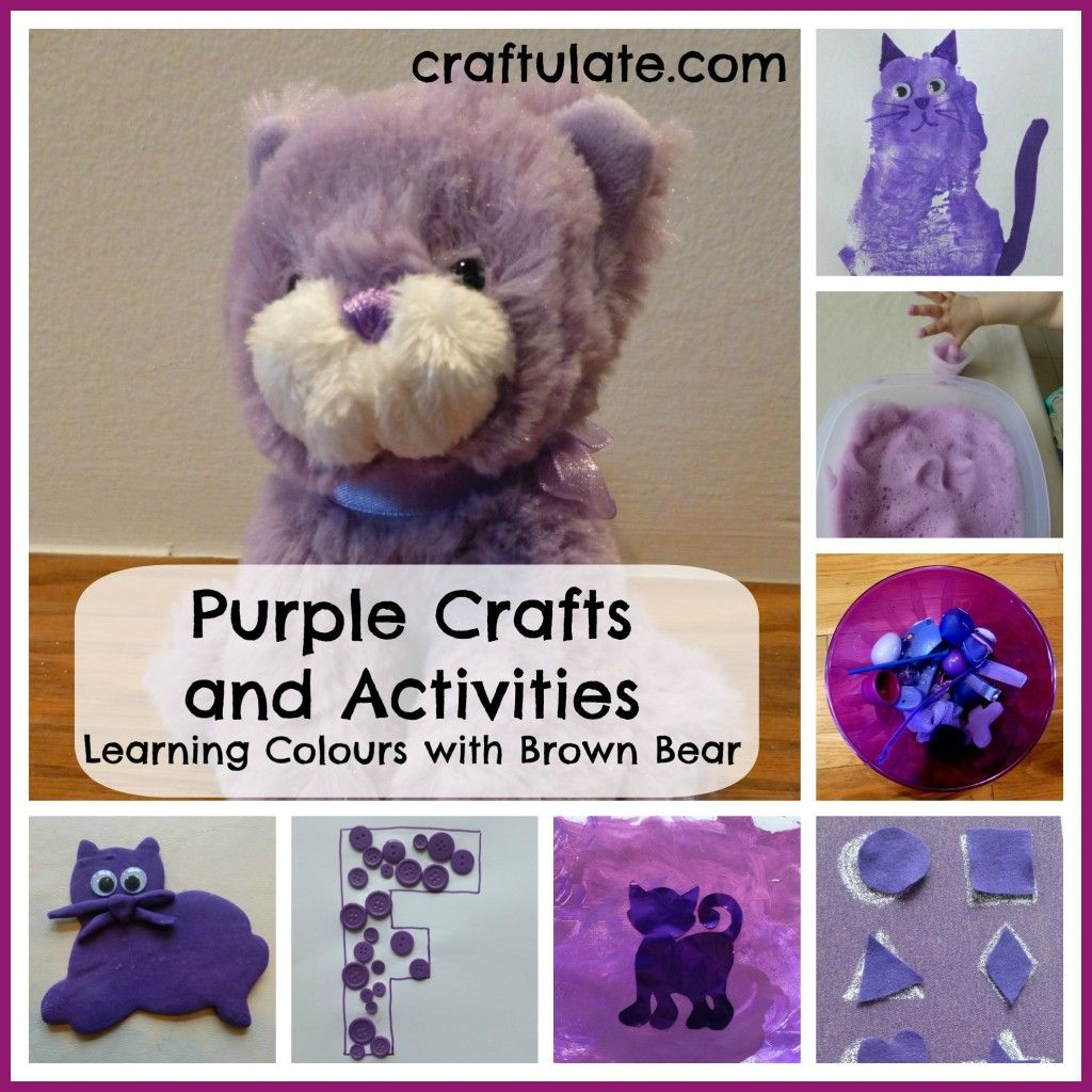 Purple Crafts And Activities Learning Colours With Brown