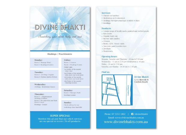Divine Bhakti Services Brochure  Martlette Graphic Design Geelong