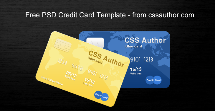 Awesome Credit Card Template Psd For Free Download Cssauthor Com Credit Card Design Visa Credit Card Credit Card