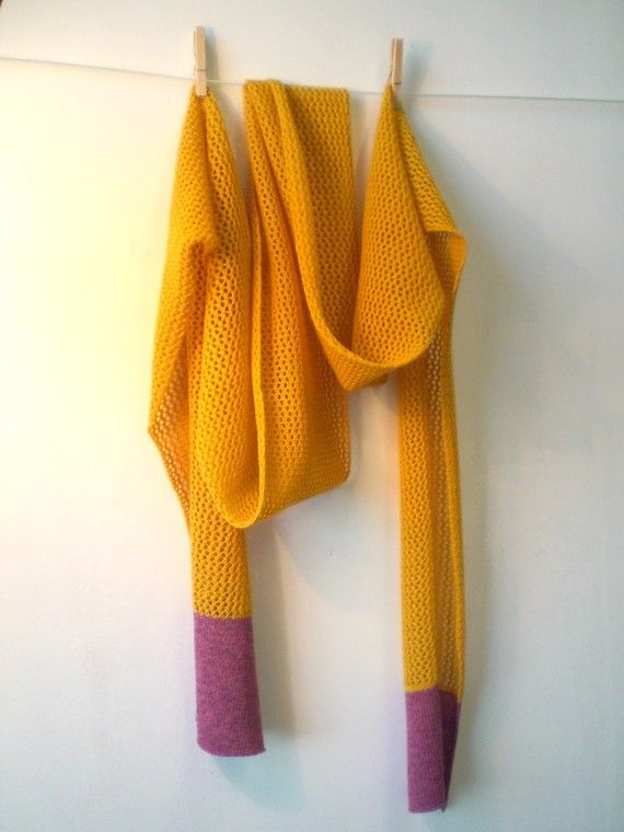 Yellow lace scarf by abigaildace on Etsy, £40.00