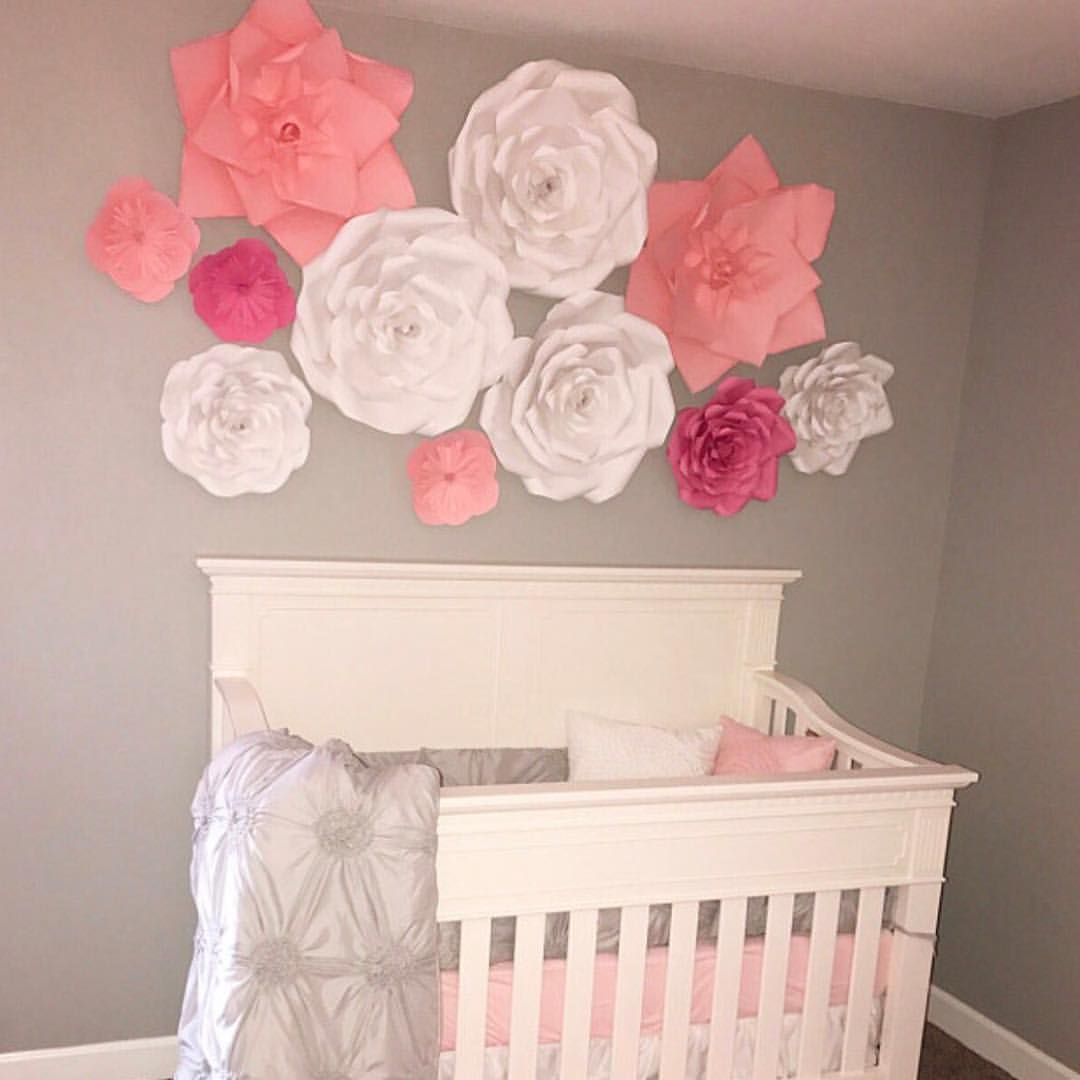 Nursery Room Decor Was Done With A Help Of My Paper Flowers