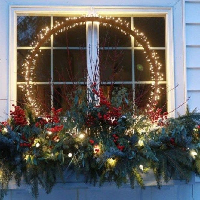 Amazing Outdoor Christmas Decorations Ideas 37 Outdoor Christmas Decorations Outdoor Christmas Planters Christmas Window Decorations