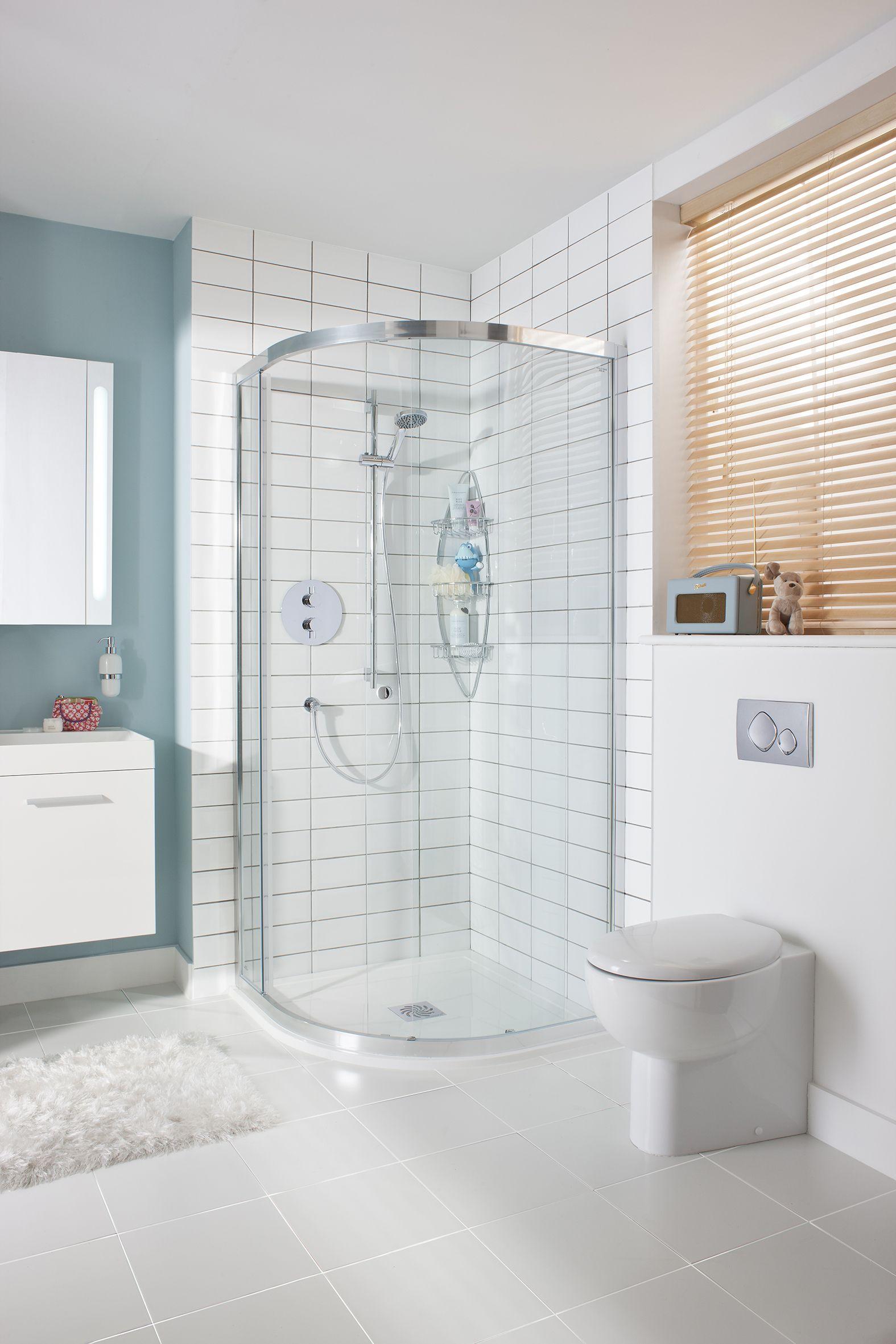 Edge Quadrant Single Bathroom Shower Door from Crosswater http://www ...