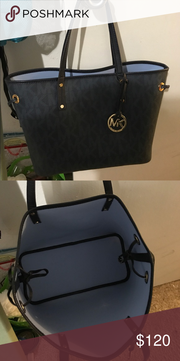 cf3fbbf0dc Michael kors handbag Medium size authentic used a couple of times very  clean navy blue retails at 268 brand new Michael Kors Bags Shoulder Bags