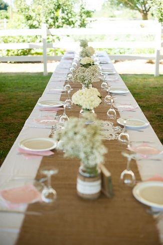 16 DIY Wedding Table Runner Ideas | Wedding table runners, Burlap ...