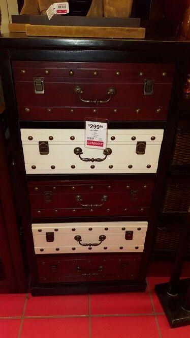 Dresser looks like stacked trunks