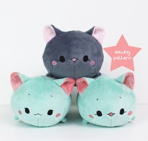 plushie sewing pattern | Tumblr | Decidedly Stuffed | Pinterest ...