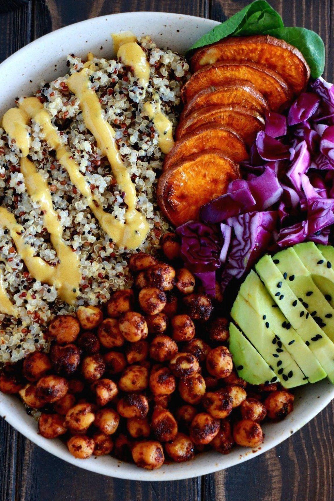 Curry Chickpea Sweet Potato Buddha Bowl Healthy nourishing