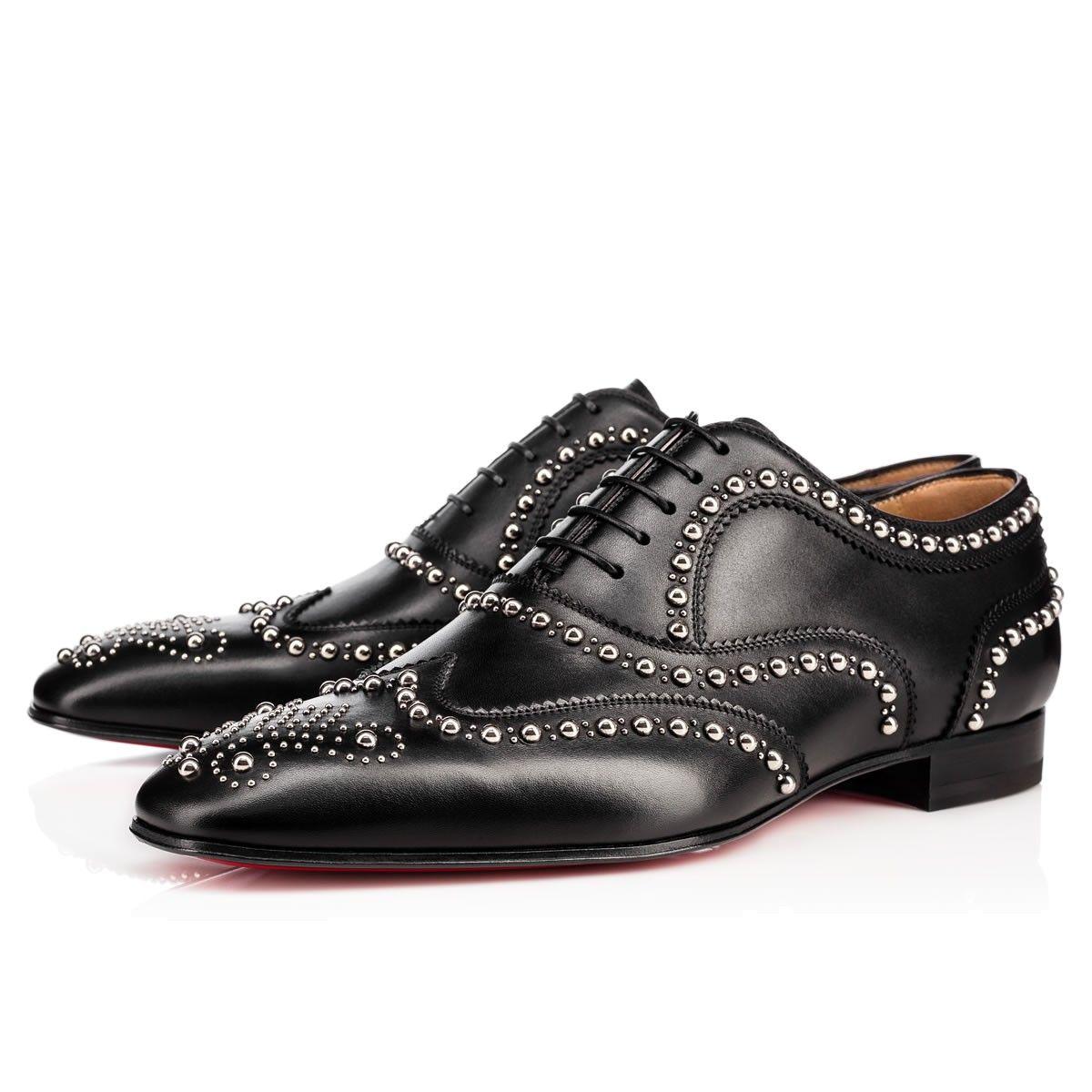 christian louboutin charlie clou vintage calf black silver calfskin rh pinterest com