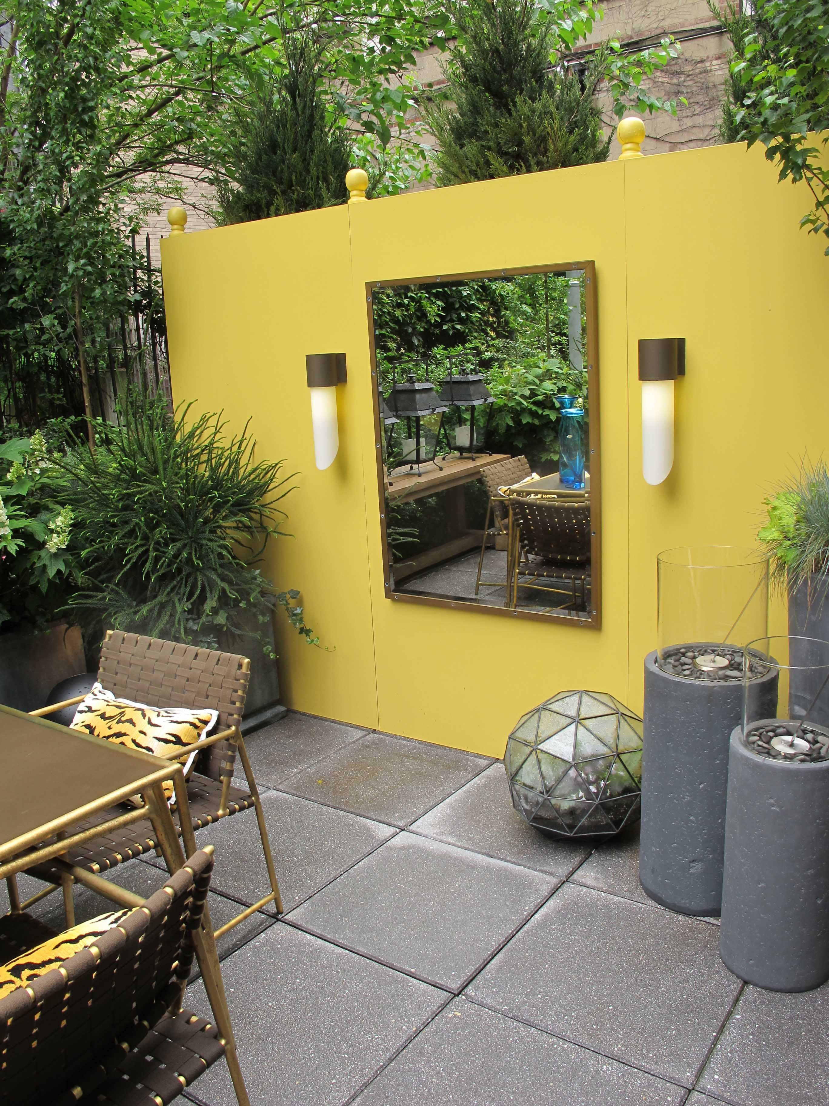 Terrace yellow wall / Yellow wall at Elle Decor Modern ... on Life Outdoor Living Block id=30400