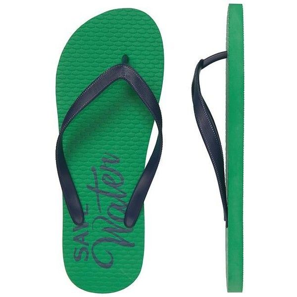 a8c140f875f1 Gap Men Factory Graphic Flip Flops ( 2.99) ❤ liked on Polyvore featuring  men s fashion
