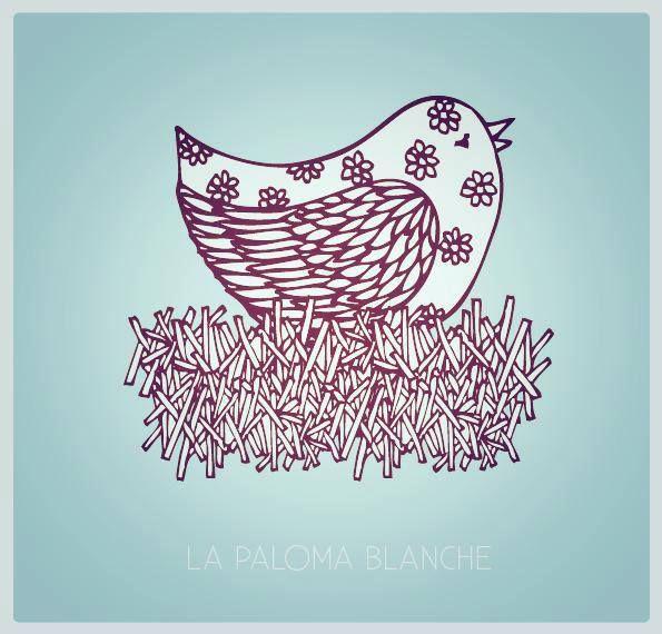 """VISUEL CARTE """"JOYEUSES PÂQUES"""" par La Paloma Blanche"""